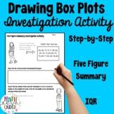 Interquartile Range, five figure summary, box and whisker plots Activity!