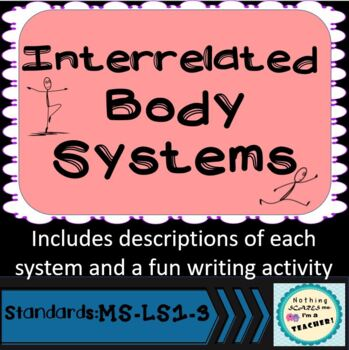 Interrelated Body Systems Writing Lesson and Activity
