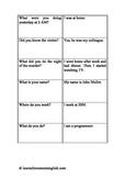 Interrogation Cards (English for Law Enforcement Purposes)