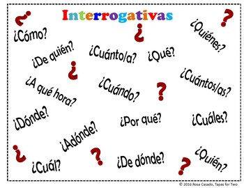 Interrogativas Question words game