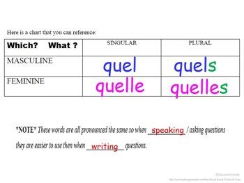 Interrogative Adjectives (Quel, Quelle, Quels, Quelles): French Quick Lesson