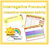 Interactive Interrogative Pronouns Activity for IWB