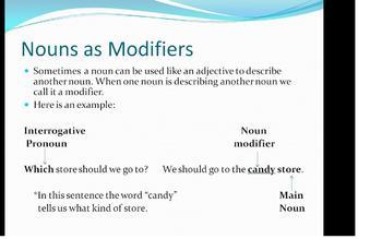 Interrogative Pronouns and Nouns as Modifiers