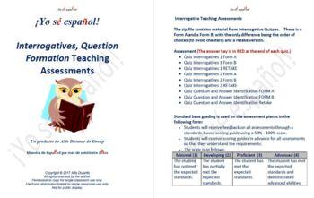 Interrogative Quizzes Teaching Material