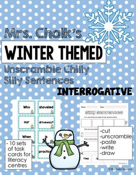 Interrogative Sentences - Winter Themed Chilly Silly Sentences