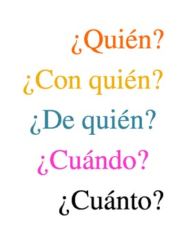 Interrogative Words in Spanish