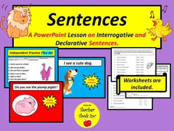 Interrogative and Declarative Sentences Lesson (Primary Grades)