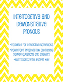 Interrogative and Demonstrative Pronouns Interactive Lesson