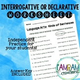 Interrogative or Declarative Worksheet