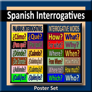 Spanish Interrogatives Poster Pair