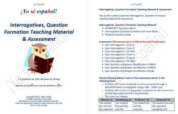 Interrogatives, Question Formation Teaching Material & Assessment