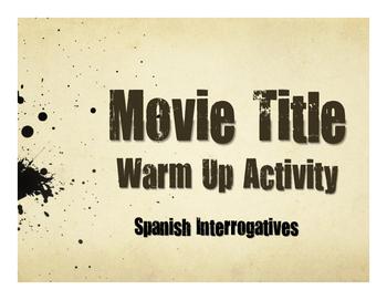 Spanish Interrogatives Movie Titles