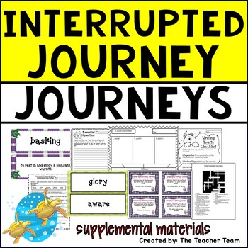 Interrupted Journey Journeys 5th Grade Unit 2 Lesson 6 Activities and Printables