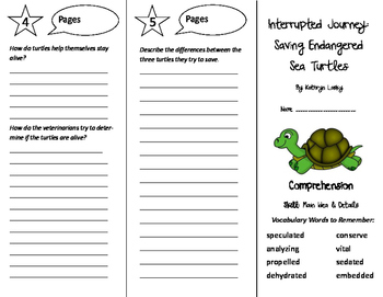 Interrupted Journey Trifold - California Treasures 6th Grade Unit 6 Week 2
