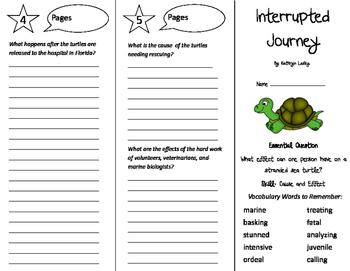 Interrupted Journey Trifold - Journeys 5th Grade Unit 2 Week 1