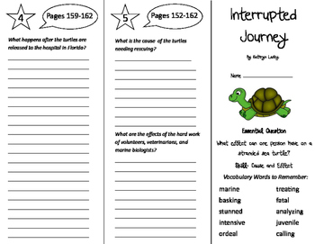 Interrupted Journey Trifold - Journeys 5th Grade Unit 2 Week 1