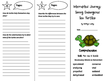 Interrupted Journey Trifold - Treasures 6th Grade Unit 1 Week 5