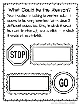 Interrupting At It's Best, Guidance Lesson for Grades 4-6