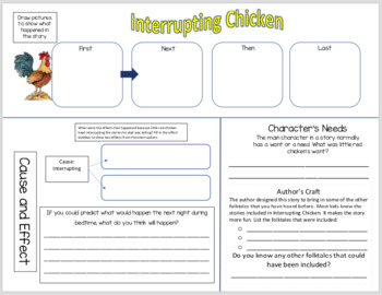 Interrupting Chicken - Vocabulary and Comprehension Companion - 1st or 2nd
