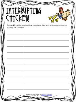 interrupting chicken writing activity by maureen mcdonald tpt. Black Bedroom Furniture Sets. Home Design Ideas