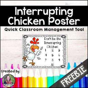 Interrupting Chicken, classroom management {Freebie}