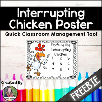 Interrupting Chicken, classroom management {Freebie}