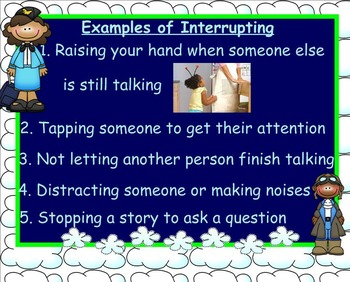 Interrupting: How to Make Talking Less Turbulent SMARTboard Guidance