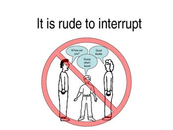 Interrupting social story