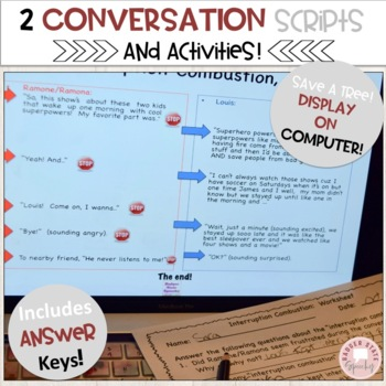 Social Language: Interruption Combustion!  Lessons & Activities on Interrupting.