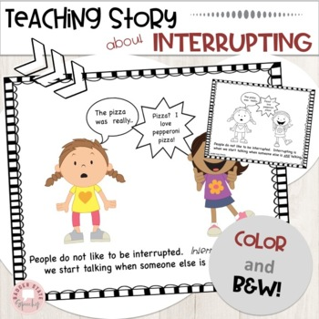 Social Language Interrupting Lessons and Activities Speech Therapy