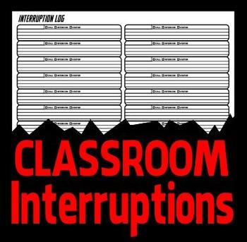 Interruption Log - Classroom Management