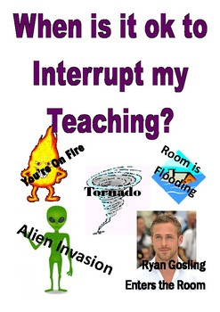 Interruption Poster Funny