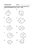 Intersecting Chords in a Circle