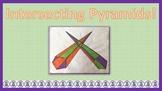 Intersecting Pyramids Math + Art Project