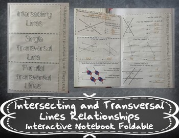Intersecting and Transversal Lines Relationships