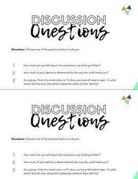 Intersectionality and Identity: Activator Discussion Questions