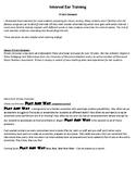 Interval Ear Training - Major, Perfect, minor