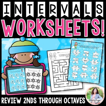 Interval Flurries: A Flurry of Interval Worksheets {Color and Ink-Friendly}