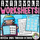 Intervals Worksheets: 2nds-Octaves Worksheets {Color and I