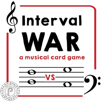 Interval Musical Card Game: 2nds- 8ths