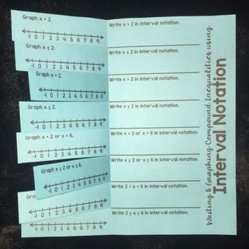 Interval Notation (Foldable)