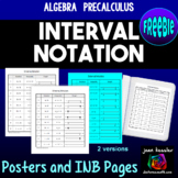 Interval Notation Posters and Interactive Notebook Pages