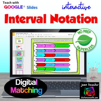 interval notation with google slides by joan kessler tpt