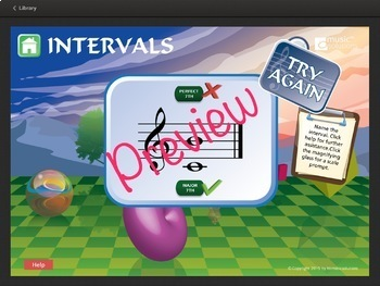 Intervals In Music - Level 1 Interactive Music Theory Activity