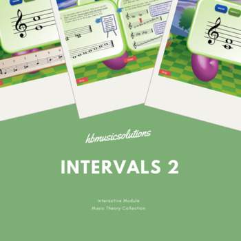 Intervals In Music - Level 2 Interactive Music Theory Activity