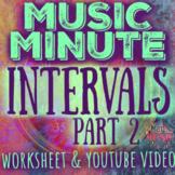 Intervals Pt. 2 - HALF & WHOLE STEP - Worksheet w/YouTube vid - Elementary Music
