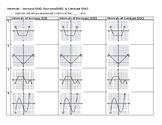 Intervals of Increase, Decrease, & Constant - spread out