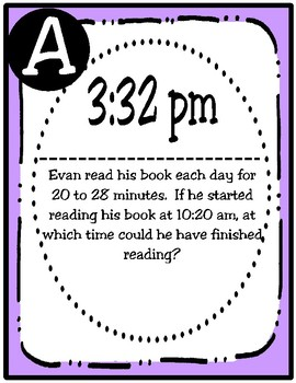 Intervals of Time Scavenger Hunt (TEKS 4.8C) STAAR Practice
