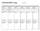 Intervention 6 week plan