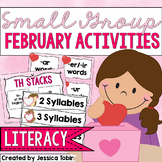 Small Group Activities for February- Early Literacy